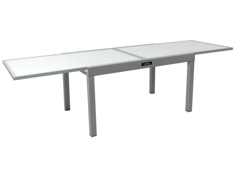 Table de jardin aluminium extensible \