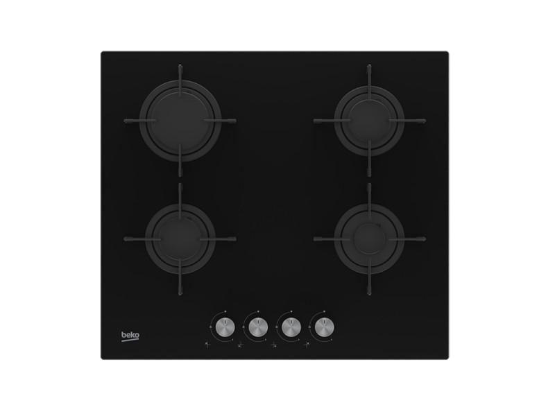 Beko hilg 64220 s plaque noir intégré (placement) gaz 4 zone(s)