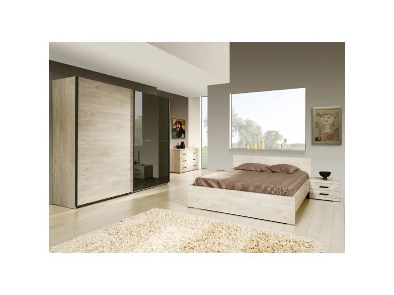 Chambre coucher adulte compl te berlin ii 140 x 200 ou - Chambre a coucher complete conforama ...