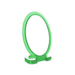 Miroir de salle de bain pivotant - Face grossissante x2 - PVC - Vert