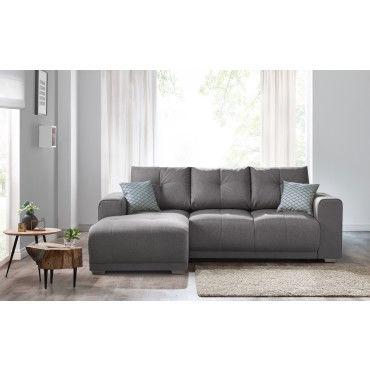 canape d 39 angle convertible lisbona avec tag re gauche 2 pts coussins deco offerts durando. Black Bedroom Furniture Sets. Home Design Ideas