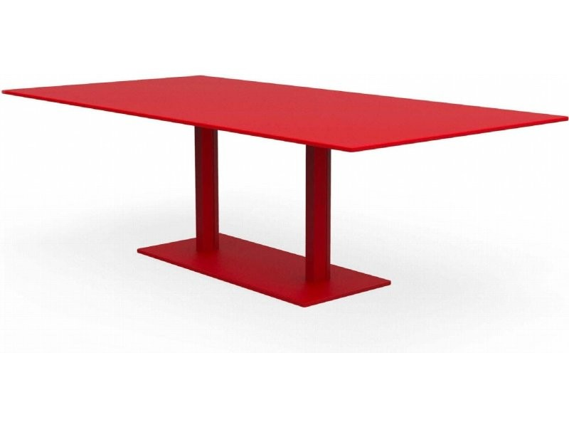 Tables rectangulaires hexagone rouge coquelicot Ta_HEX_Rect240x120_h75_Coq