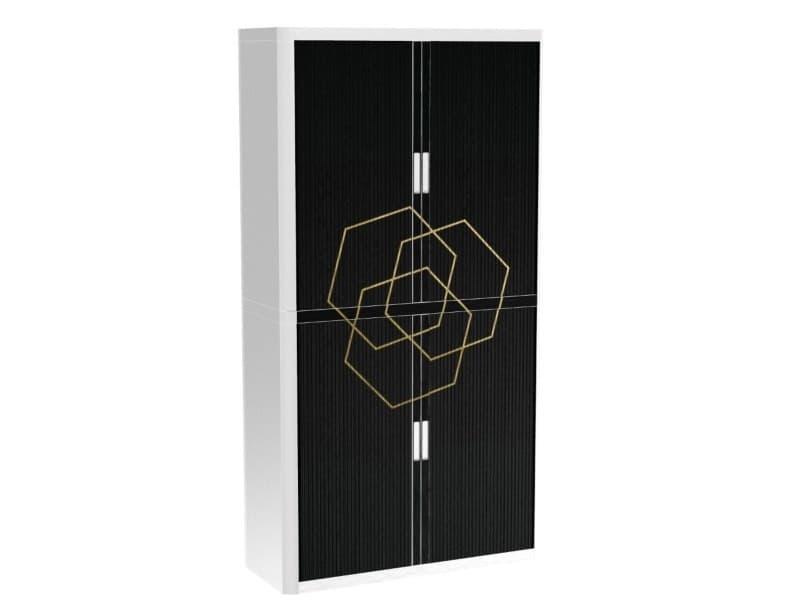 Armoire de bureau métalique porte coulissante h 2m - romance