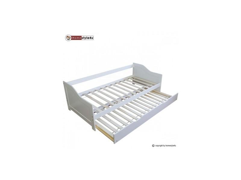 lit simple blanc 90x200 avec tiroir lit 1420 conforama. Black Bedroom Furniture Sets. Home Design Ideas