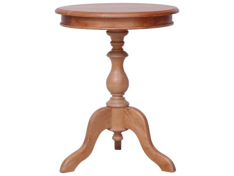 Distingué tables basses et tables d'appoint edition sanaa table d'appoint naturel 50 x 50 x 65 cm bois d'acajou massif