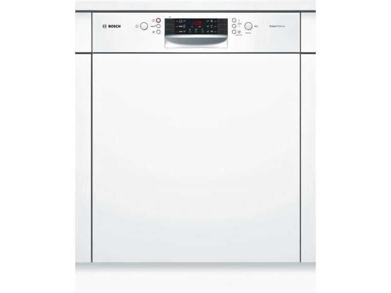 Lave-vaisselle 60cm 12c 44db a++ intégrable avec bandeau blanc - smi46aw04e BOSSMI46AW04E