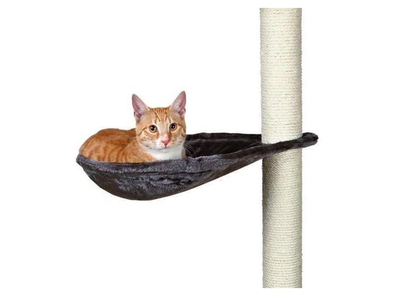 Griffoir - grattoir - tour - poteau - tronc hamac - nid xl pour griffoir pour chat gris platinium peluche ø 40 cm