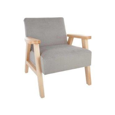 fauteuil en bois avec accoudoir pour enfant gris vente de atmosphera conforama. Black Bedroom Furniture Sets. Home Design Ideas