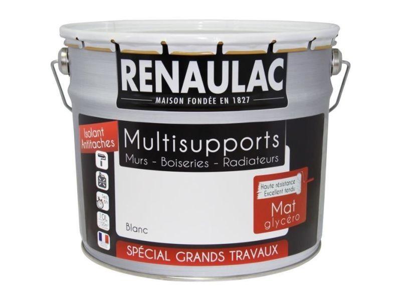Peinture - vernis - traitement (lasure - effets decoratifs) peinture intérieur multisupports glycéro blanc - mat - 10l -100m² / pôt