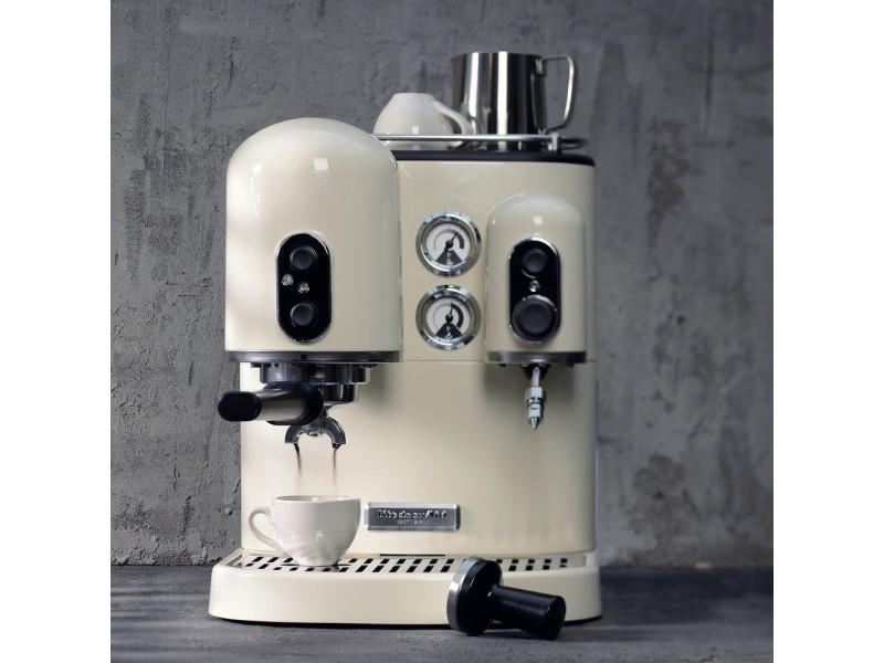 Machine à expresso avec 2 chauffe-eau indépendants 1300w crème gris