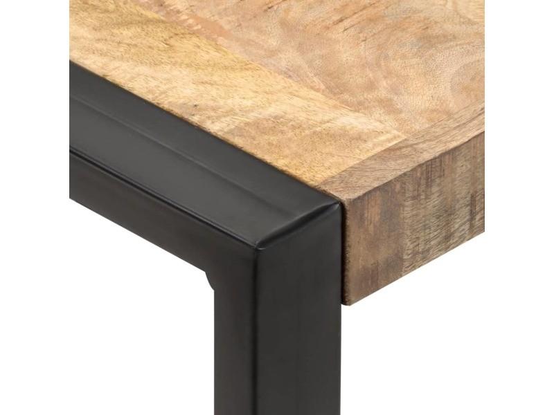 Vidaxl table de salle à manger 60x60x75cm bois de manguier massif brut 321592