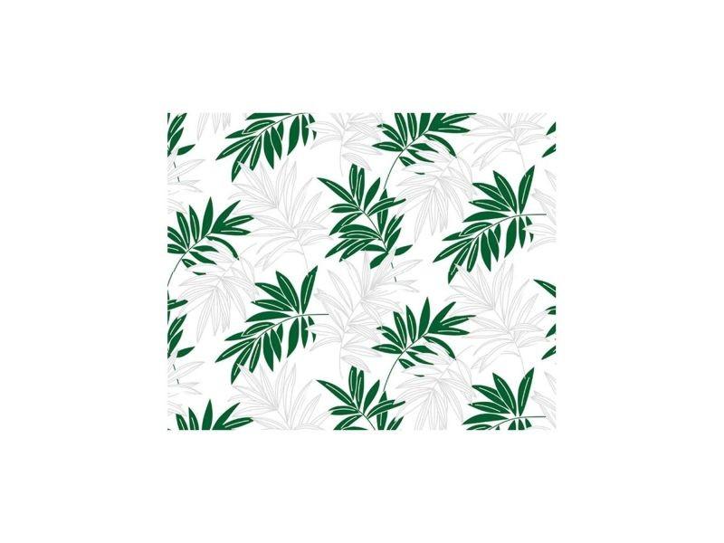 Adhésif décoratif motif feuilles vertes - 150 x 45cm