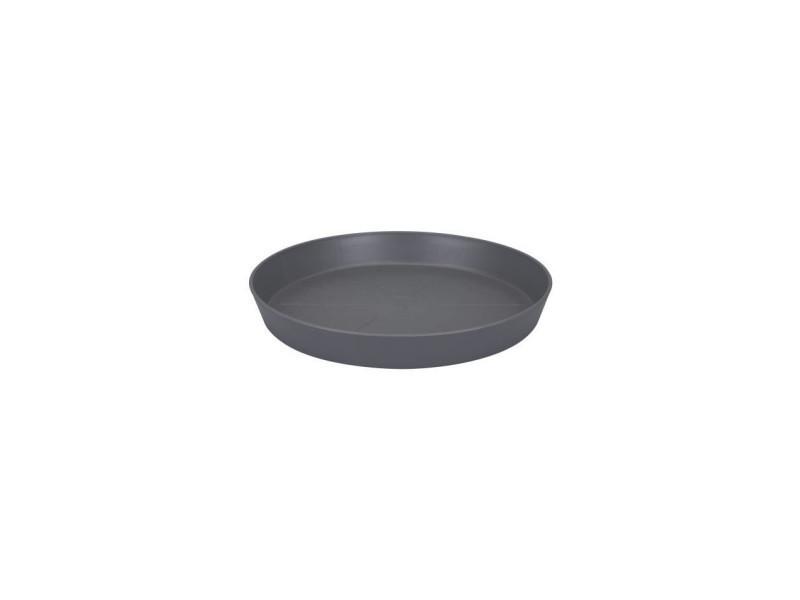 Elho soucoupe ronde pour pot de fleur - ø24 cm - gris anthracite