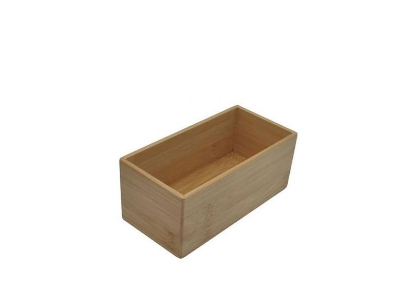 Boîte rangement salle de bain rectangulaire en bambou - longueur ...