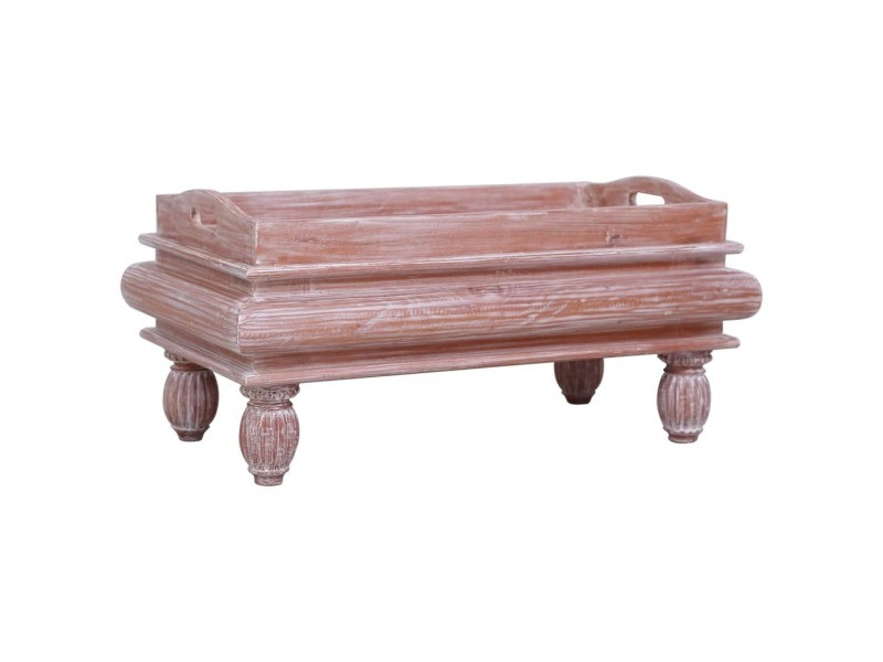 Contemporain tables basses et tables d'appoint ensemble kaboul table basse marron 90 x 50 x 40 cm bois d'acajou massif