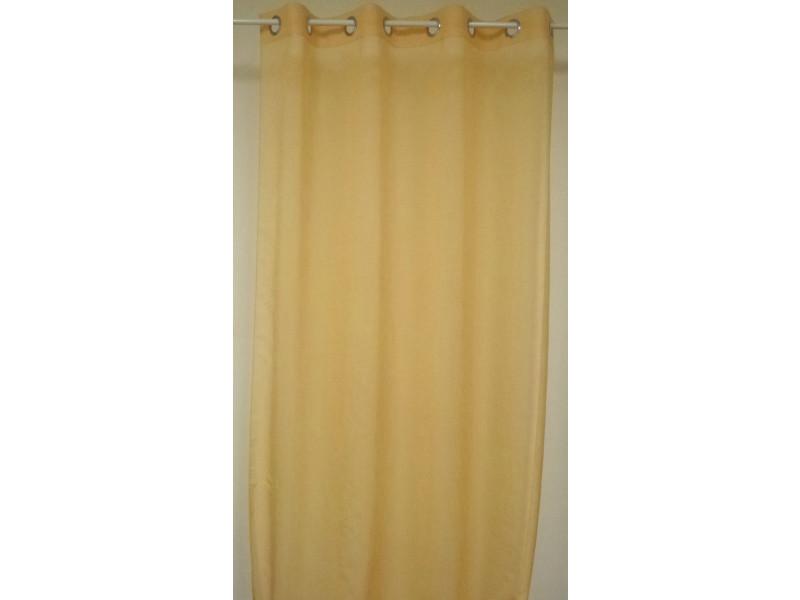 Rideau prêt à poser en 100 % polyester coloris jaune d'or - dim : 140 x 260 cm -pegane-