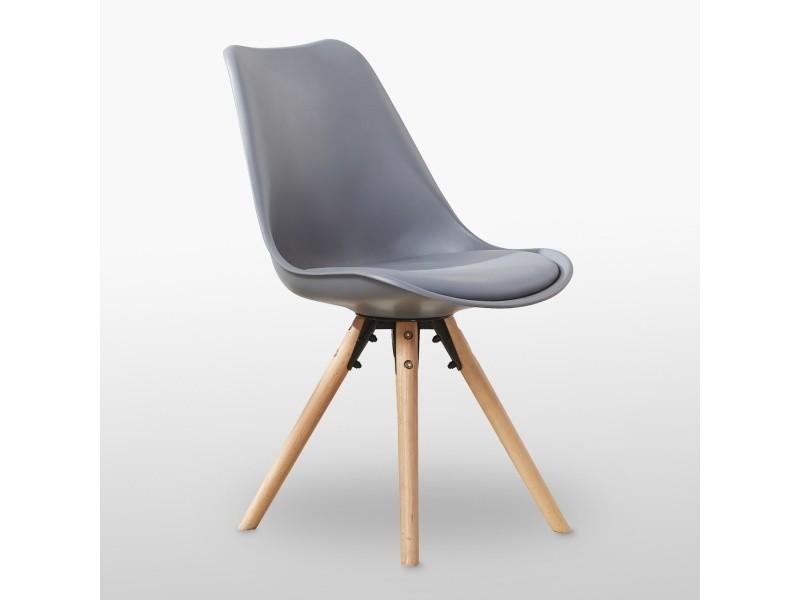Chaise scandinave grise sophie rembourrée