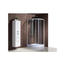 Le bandama : paroi de douche d'angle, l 90 x l 90 x h 198 cm, receveur inclus