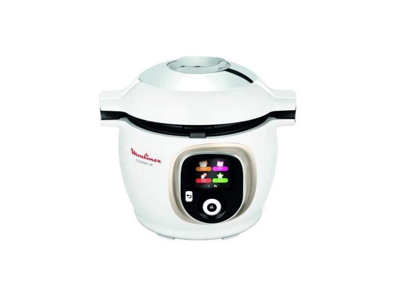 Moulinex ce851a10 multicuiseur intelligent cookeo + 6 l - 150 recettes préprogrammées - guide pas a pas - blanc MOUCE851A10
