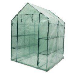Serre de jardin métal 140 x 190 x 140 cm 2 m2 jardinage plante 1613012