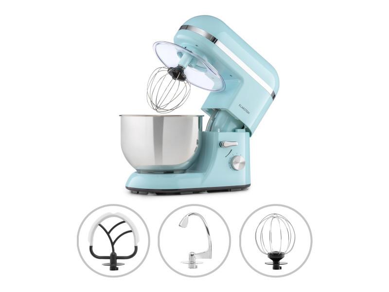 Klarstein bella elegance - robot de cuisine 1300w, bol mélangeur inox 5l, 6 vitesses - bleu