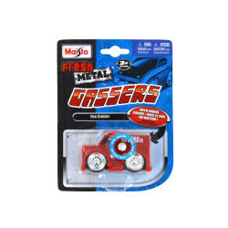 Voiture fresh metal gassers avec sons : fire cruizer rouge