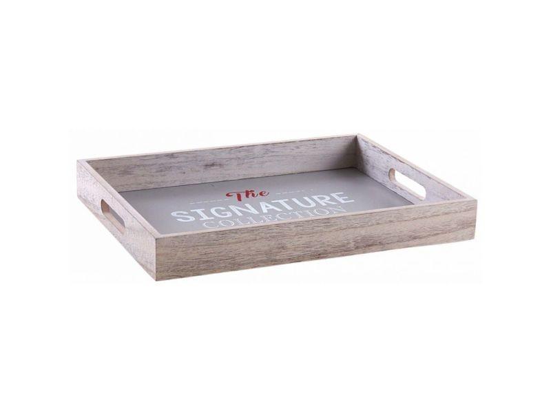 Plateau en bois gris the signature collection