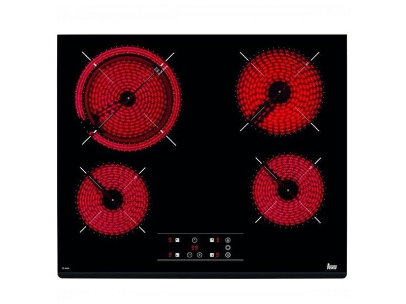 Plaques vitro-céramiques à 4 zones de cuisson 6200w 60 cm noir