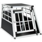 Cage box caisse de transport chien mobile aluminium single 3708001
