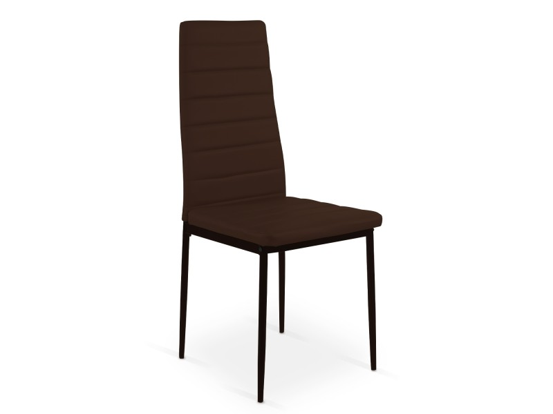 lot de 4 chaises strip marron vente de chaise conforama. Black Bedroom Furniture Sets. Home Design Ideas