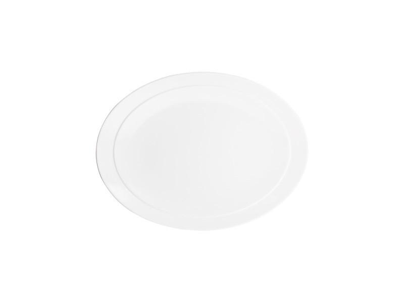 Bodum eclia assiette ovale en porcelaine (bone china), petit modèle, 30 x 23 cm 6904-03B