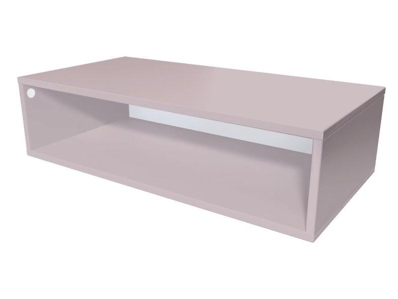Cube de rangement bois 100x50 cm violet pastel CUBE100-ViP