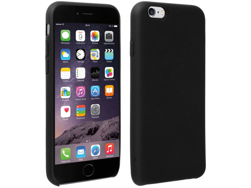 coque iphone 6 noir mat rigide