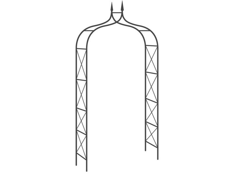 Arche de jardin en fer noir parisian