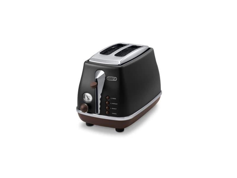 Delonghi ctov 2103.bk grille pain icona vintage - noir et marron