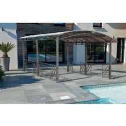 Pergola design rectangulaire avec toit rigide