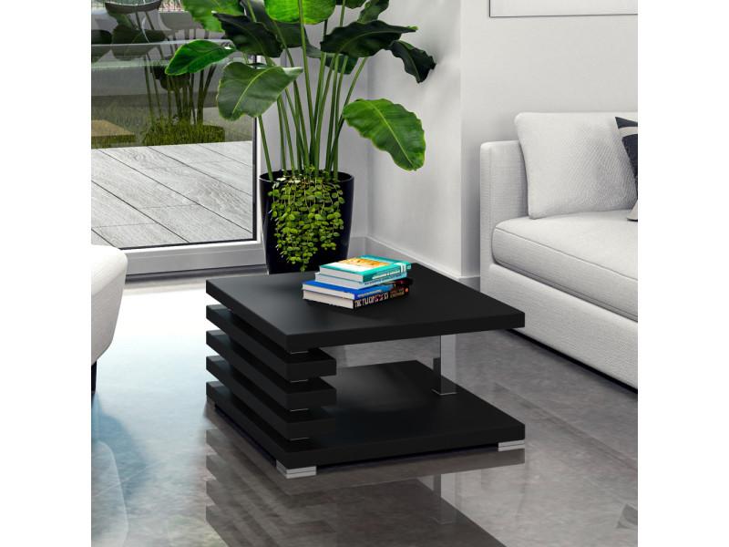 Table basse design - ariene - 60x60 cm - noir mat