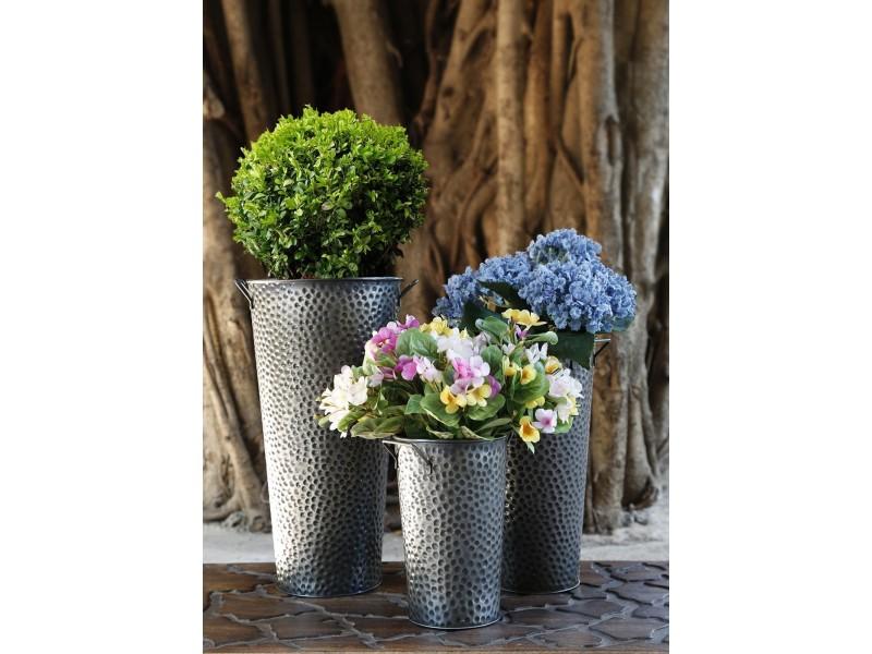 Ensemble de 3 jardinieres de style francais avec poignee for Jardin accessoires decoratifs