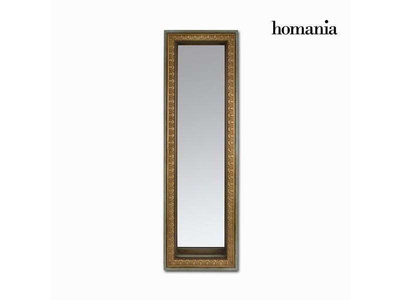 Miroir rectangulaire couleur or mat vieilli bois de sapin