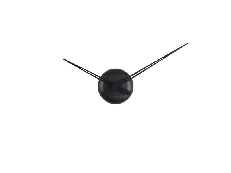 Horloge murale design minimaliste little big time sharp - diam. 44 cm - noir