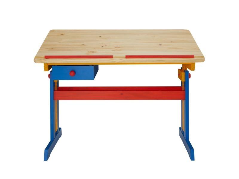 bureau enfant colier junior flexi table dessin r glable en hauteur et pupitre inclinable avec. Black Bedroom Furniture Sets. Home Design Ideas