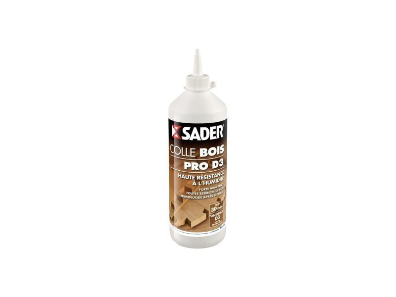Sader colle bois pro d3 - biberon 750g