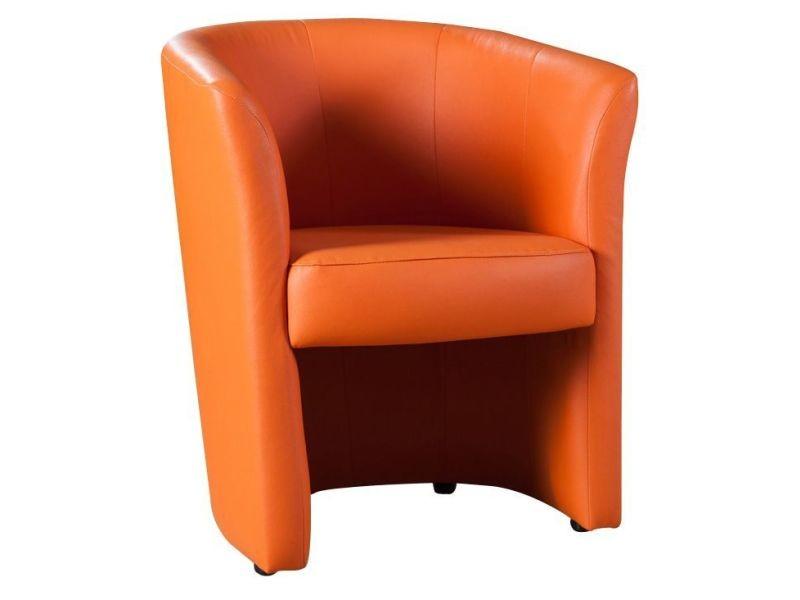 Fauteuil Design Cabriolet En Pvc Coloris Orange Vente De COMFORIUM - Fauteuil orange