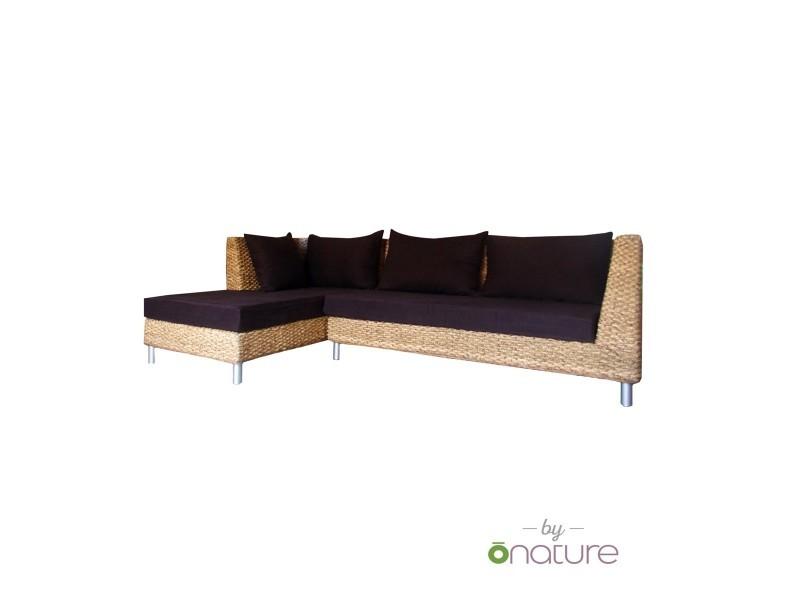 Canapé d'angle déhoussable mousse et tissu bio gauche tandem