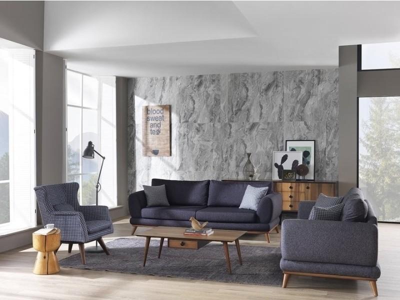 Ensemble Salon Design Scandinave Qualite Confortable Moelleux