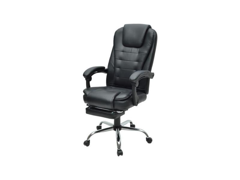 Mack chaise de bureau simili noir style industriel l