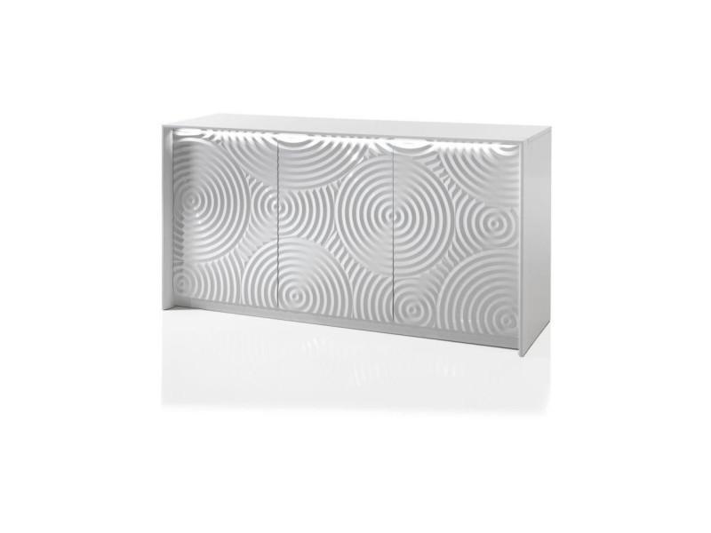 Enfilade 3 portes - blanc - l 150 x p 45 x h 80 cm - torino 2099901526441