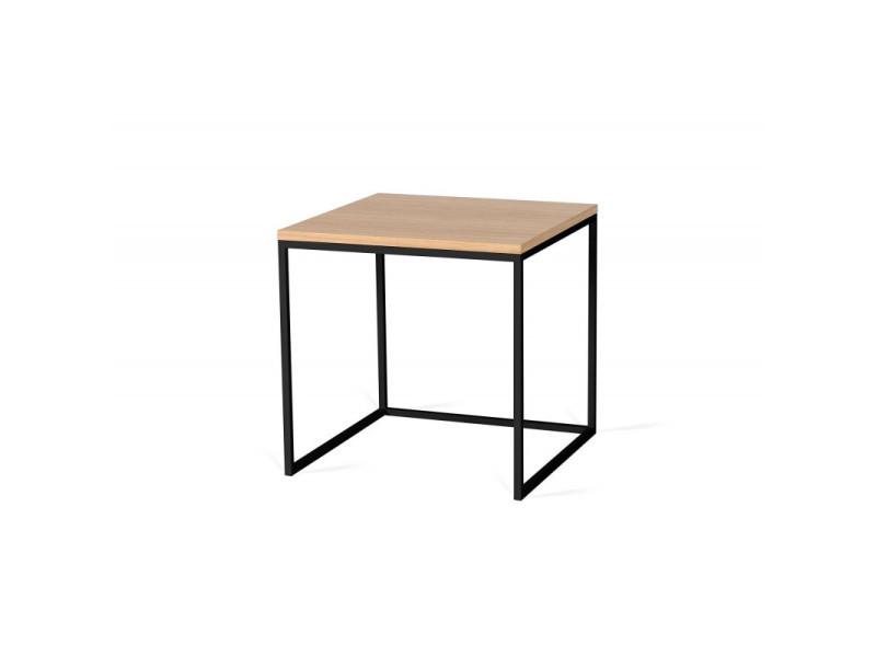 Table basse carrée industrielle 50 cm helisa / coloris : chêne