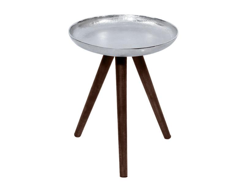 Table basse ronde toluk chrome