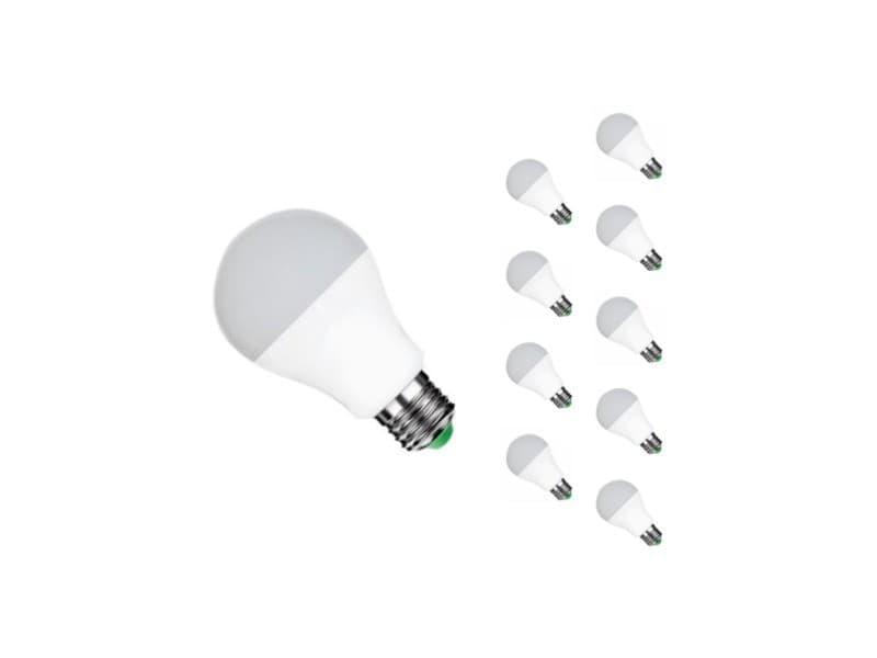 Ampoule e27 led 12w 220v a60 180° (pack de 10) - blanc chaud 2300k - 3500k
